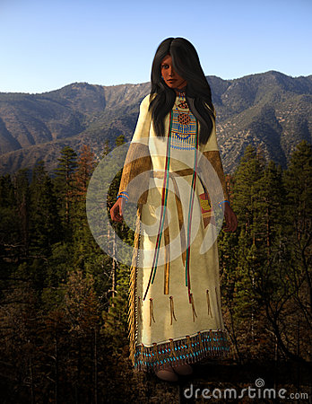 Free Cheyenne American Indian Woman Illustration Stock Photo - 79215640