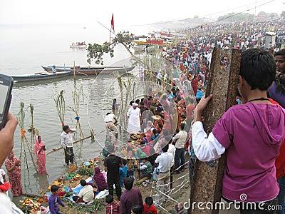 Chhath Festival, Ganges River, Varanasi, India
