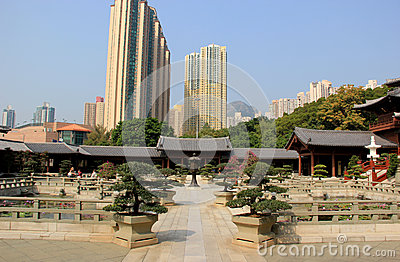 Chi Lin Nunnery, a large Buddhist temple complex built without a