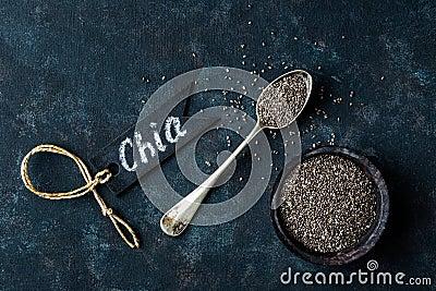 Chia seeds Stock Photo