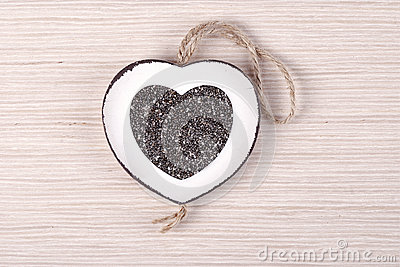 Chia on white