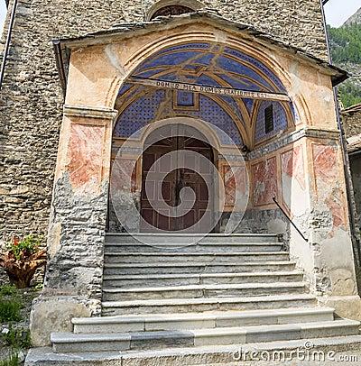 Chianale (Italian Alps): church