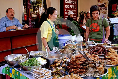 Chiang Mai, TH: Food Vendors Editorial Stock Photo