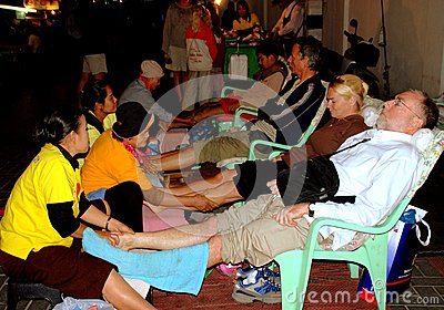 Chiang Mai,TH: Foot Massage Spa Editorial Image