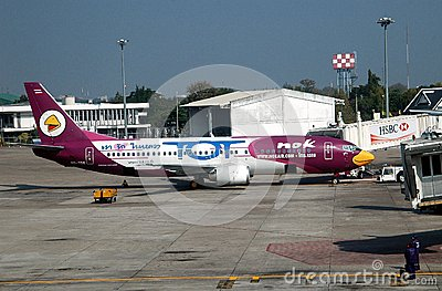 Chiang Mai,TH: Nok Airways Airbus Editorial Photography