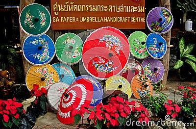 Chiang Mai, Thailand: Borsang Village Paper Parasols Editorial Photography