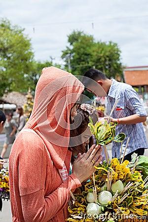 CHIANG MAI THAILAND-JUNE 9   Inthakhin traditional Editorial Photo