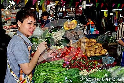 Chiang Mai, Thailand: Somphet Food Market Editorial Stock Photo