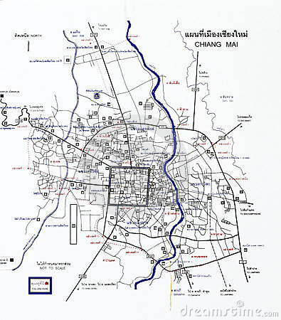 Chiang Mai Tourist Map