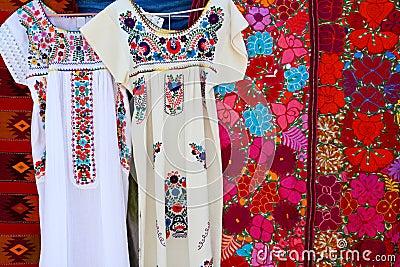 Chiapas Mayan dress embroidery and serape