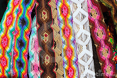 Chiapas Mexico handcrafts belts colorful bracelets