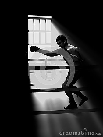 Chiaroscuro boxer