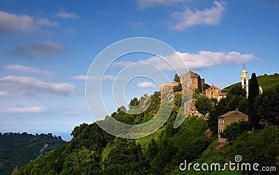 Chiatra village in  costa serena, corsica island