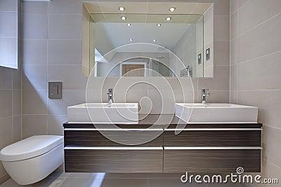 Chic modern bathroon detail