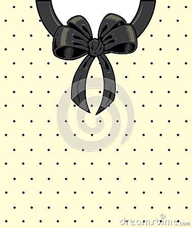 Chic polka dots and ribbon