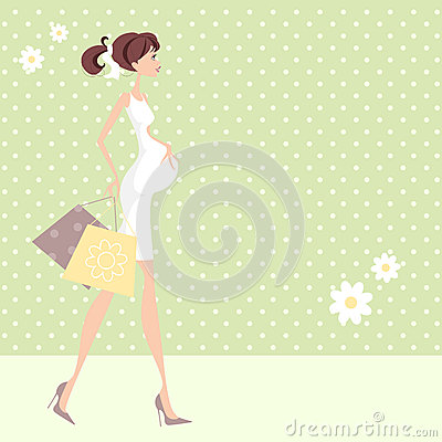 Pregnant Shopping Woman