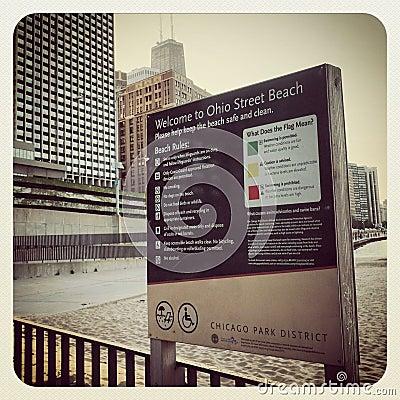 Chicago Redaktionell Arkivfoto