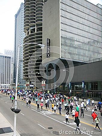 Chicago 8K Shamrock Shuffle Editorial Stock Photo