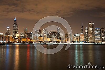 Chicago participates in Autism Speaks Light It Up  Editorial Image
