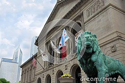 Chicago Art Institute Editorial Photo