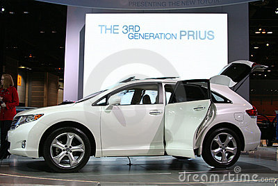 Chicago Autoshow 2009: Toyota Prius Editorial Image