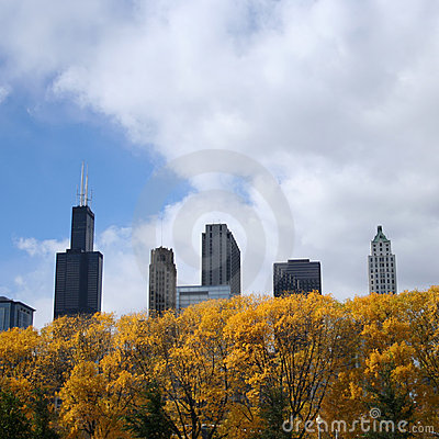 Chicago in autumn