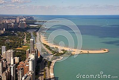 Chicago beach background