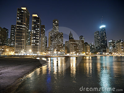 Chicago Beach Night