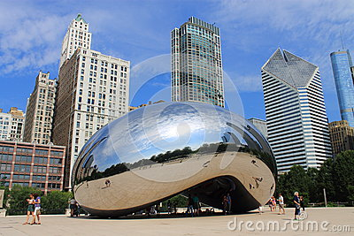 Chicago Bean Cloud Gate Editorial Photography