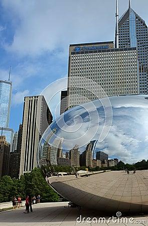 Chicago bean Editorial Stock Image