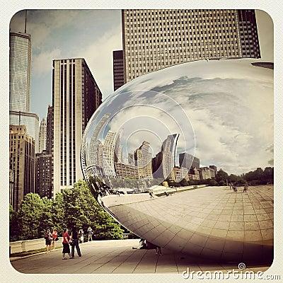 Chicago bean Editorial Stock Photo