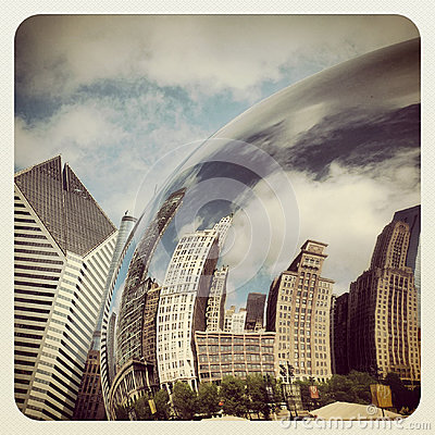 Chicago bean Editorial Stock Image