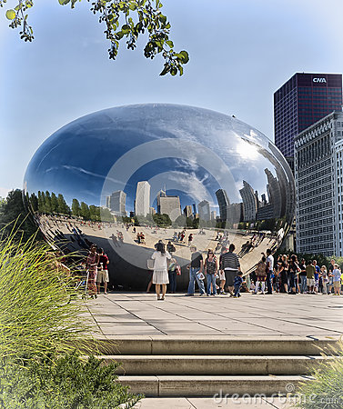 Chicago Bean, Millennium Park, Illinois Editorial Photography