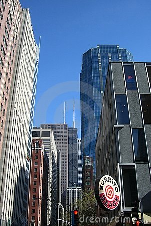Chicago Buildings surround Hancock Tower Editorial Photography