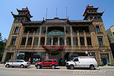 Chicago Chinatown Editorial Image