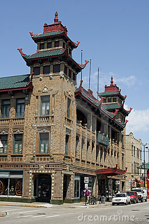 Chicago Chinatown Editorial Image