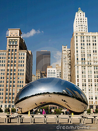 Chicago Cloud Gate Editorial Photography