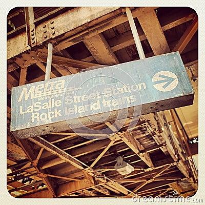 Chicago CTA bus sign Editorial Stock Photo