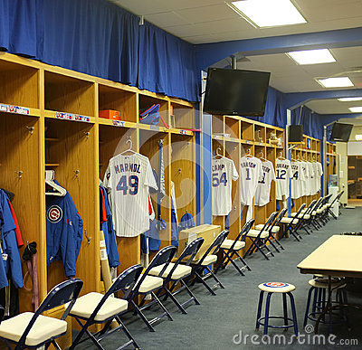 Chicago cubs players room Editorial Stock Image