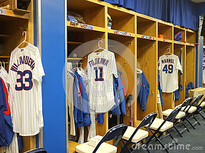 Chicago cubs players room Editorial Photography