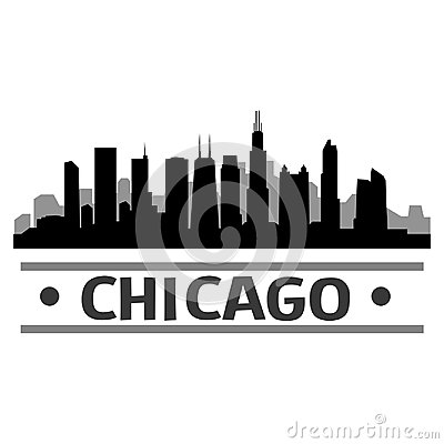 Free Chicago DC Skyline City Icon Vector Art Design Stock Photography - 100534912
