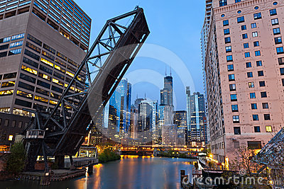 Chicago Downtown Riverside. Stock Images - Image: 24448234