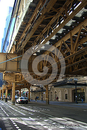 Chicago Elevated Train Editorial Photography