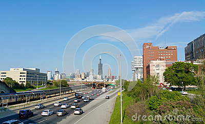 Chicago Expressway Editorial Photography