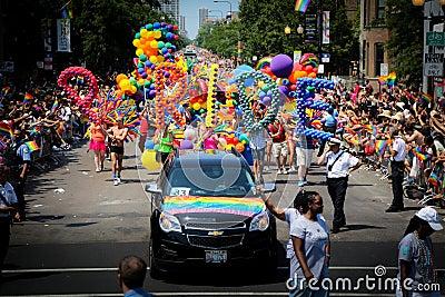 Chicago Gay Pride parade Editorial Image
