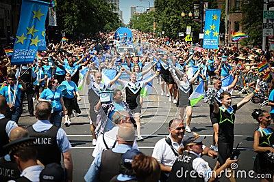 Chicago Gay Pride parade Editorial Photo
