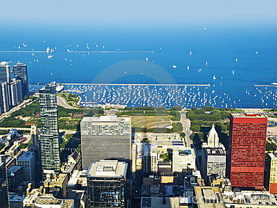 Chicago Harbor and Lake Michigan