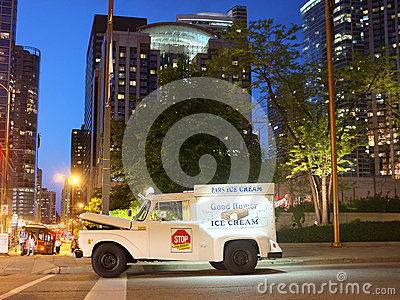 Chicago Ice Cream truck Editorial Photo
