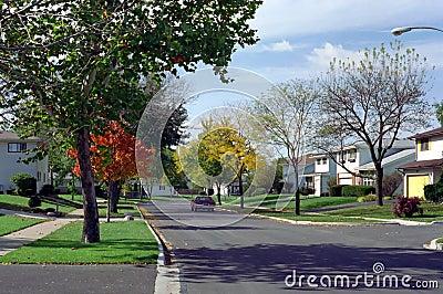 Chicago Illinois West Suburb Street USA