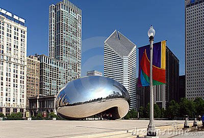 Chicago jest millennium park Obraz Editorial